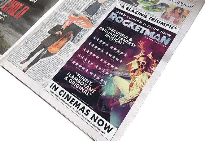 Rocketman - Press ad